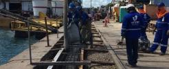 Execução das obras civis no porto de Salvador